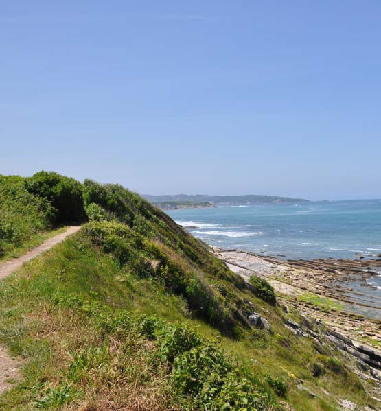 camping visite guidée sentier littoral pays basque