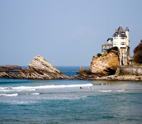 location camping visite guidée biarritz